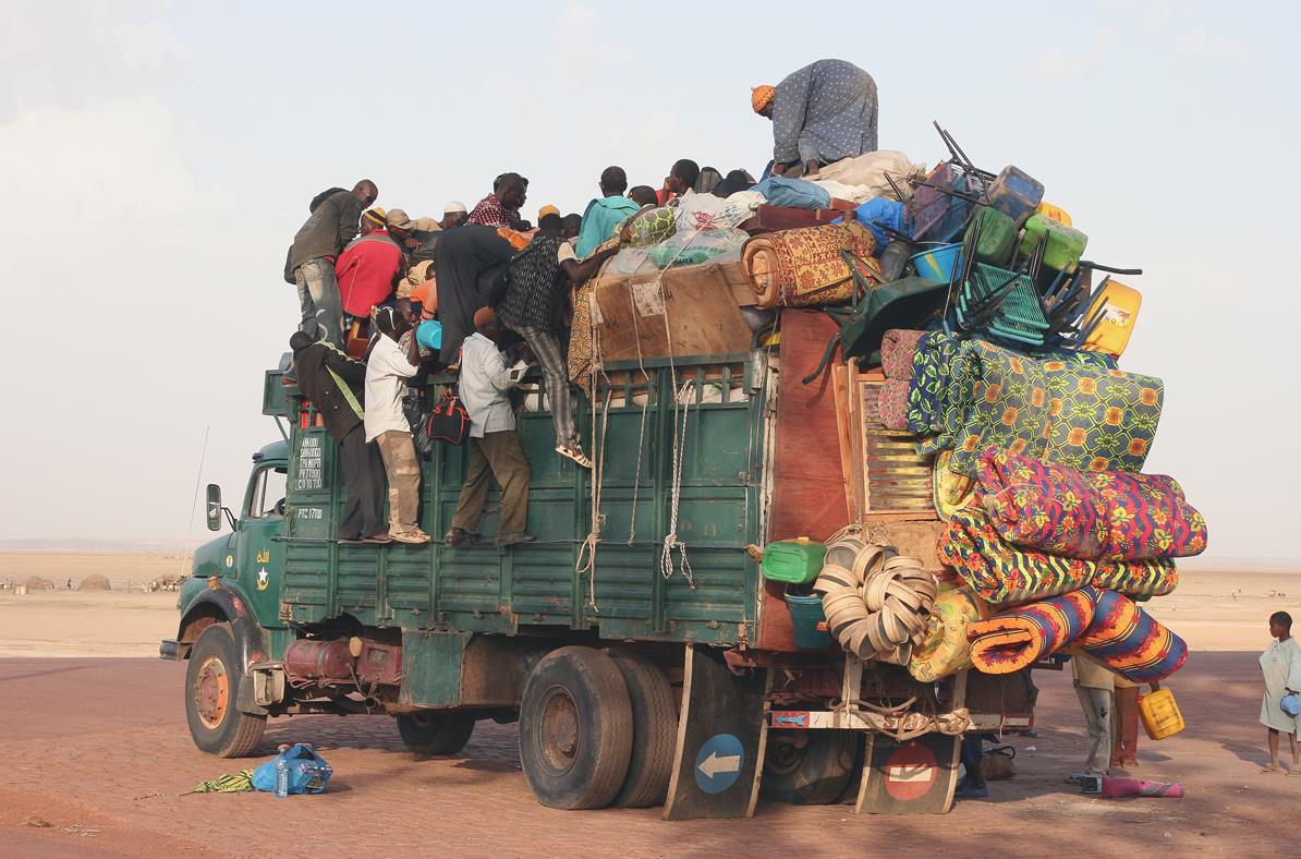 Lastebil i Afrika