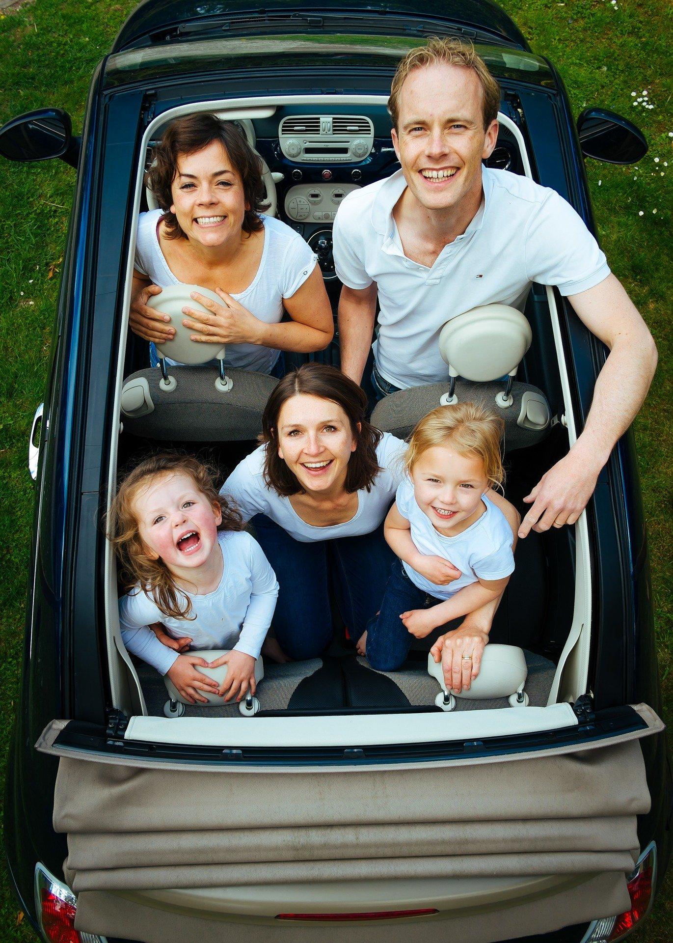 Familie på tur